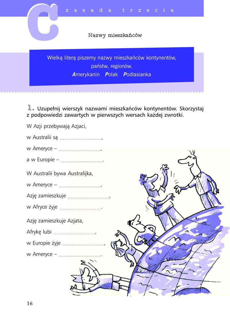 Ortografia ćwiczenia Pisownia Wyrazów Wielką I Małą Literą